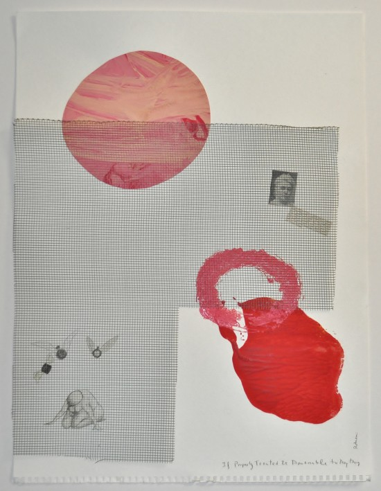 [b]\'If properly treated is amenable to anything\'[/b] (2013). Ink, collage, lino press, metal.